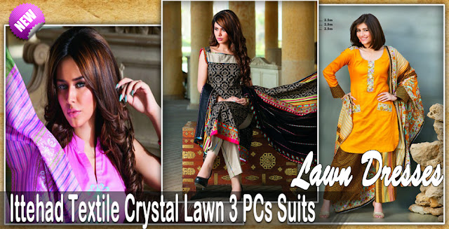 Formal Wear | Ittehad Textiles Crystal Lawn Collection 2013