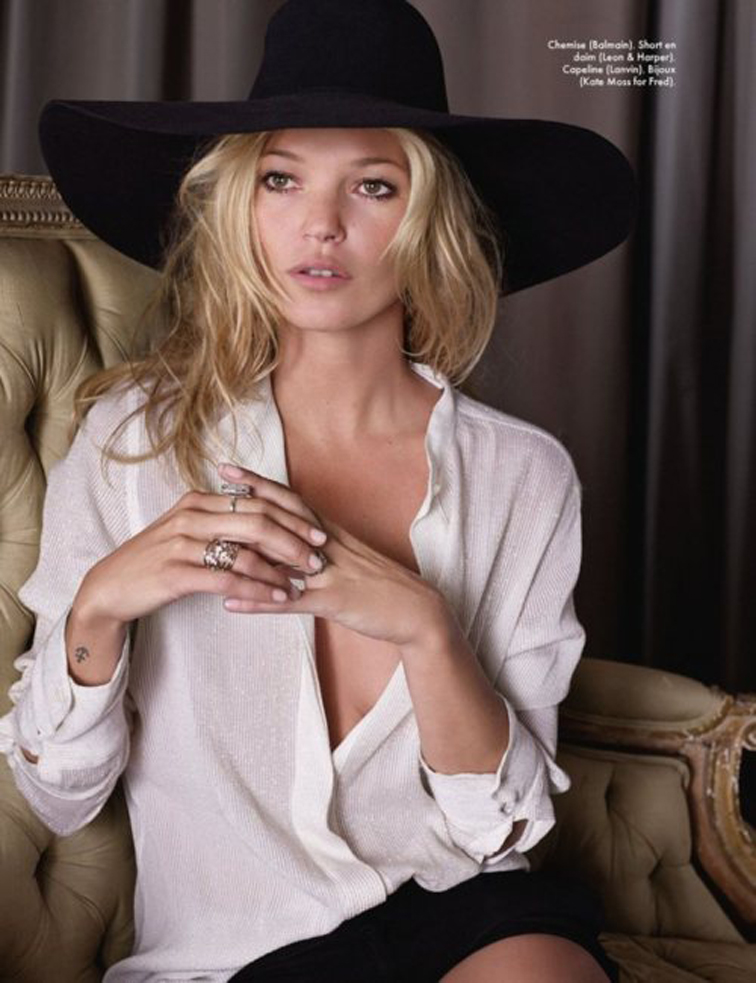 Kate Moss Rock n Roll Saint Laurent Hat