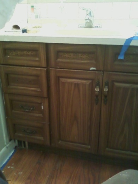 Bathroom Cabinets Handles the oak house project.updated bathroom cabinet makeover