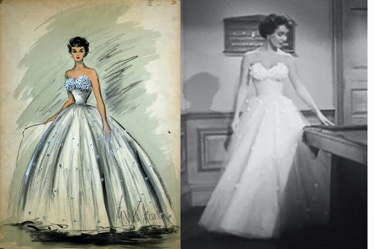 Art now and then edith head for Elizabeth taylor s wedding dresses