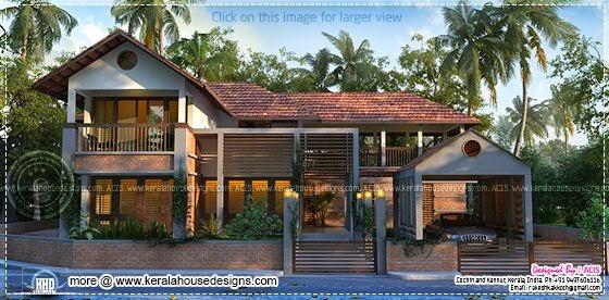 Kerala style contemporary house