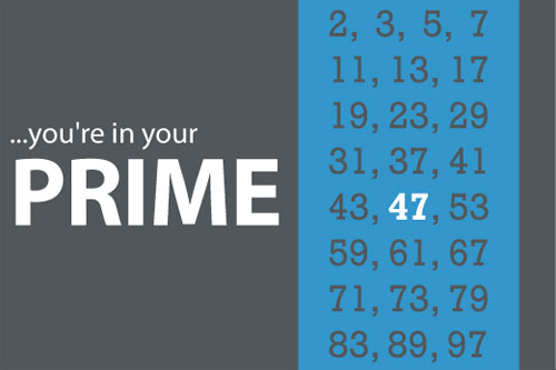 prime number birthday card 47