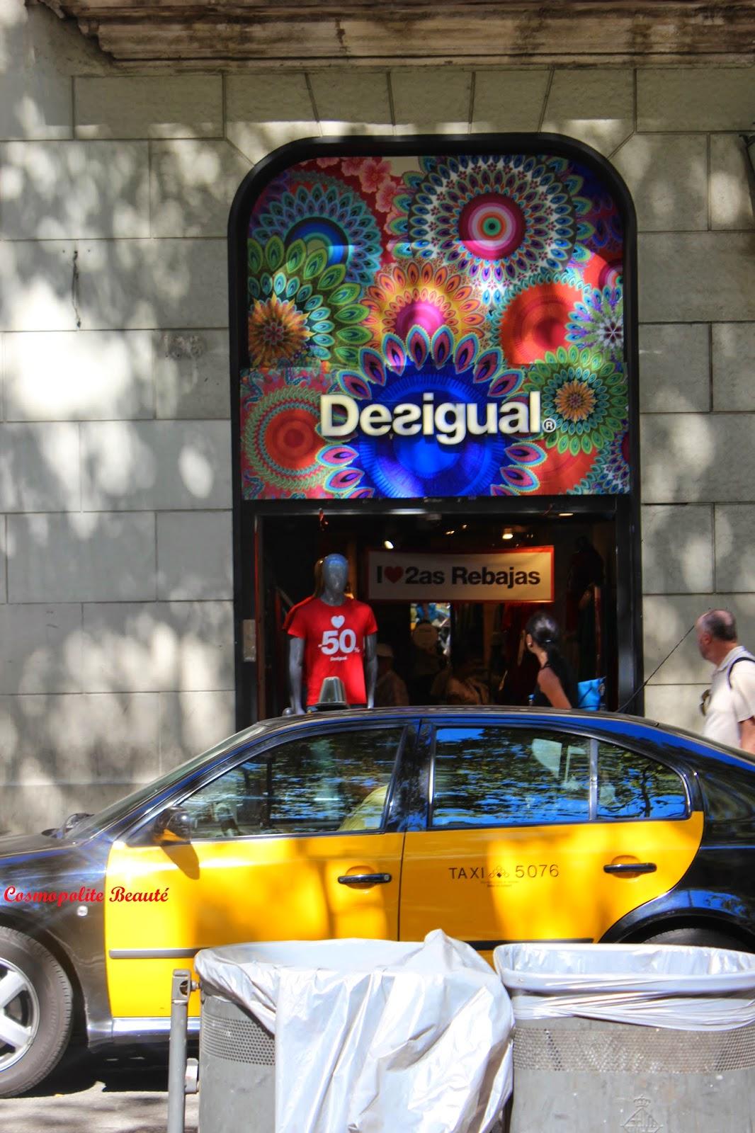 Desigual, Barcelone, Espagne, voyage, carnet de voyage, Barcelona, beauté, mode, boutiques
