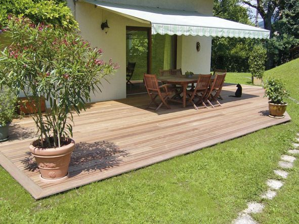 Rev tement de terrasse bois naturel ou composite for Amenagement jardin avec terrasse bois