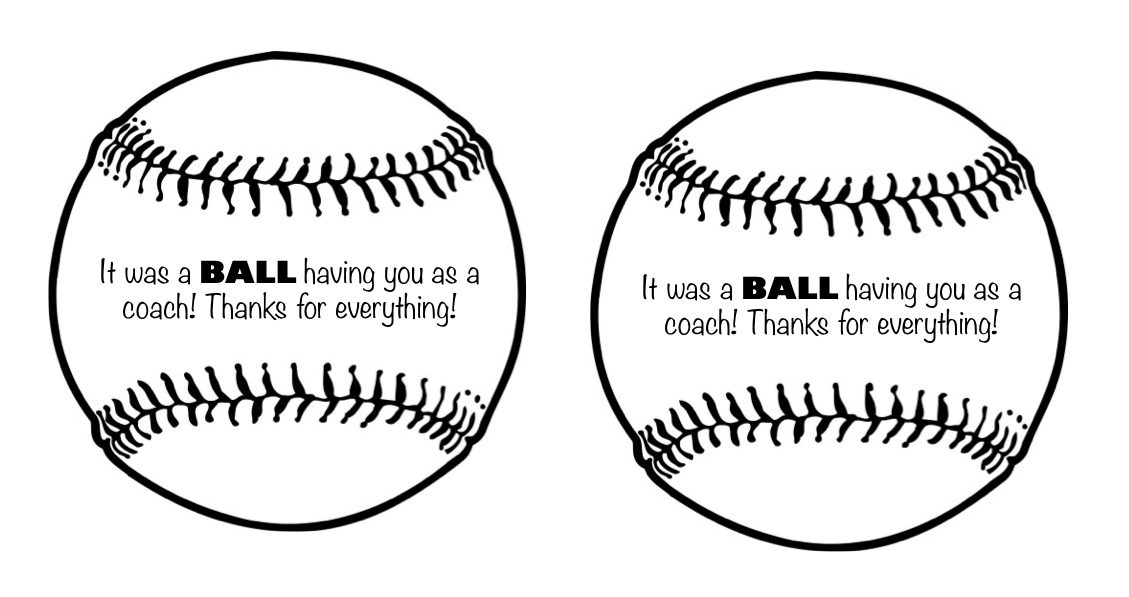 ... your kids play softball or baseball, feel free to use the tag I made