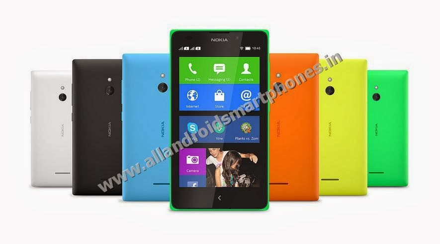 Nokia XL 3G Dual Sim Android Phablet Bright Green Orange Cyan Yellow Black White Front Back All Images Photos Review