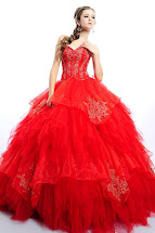 Red Princess Prom Dress