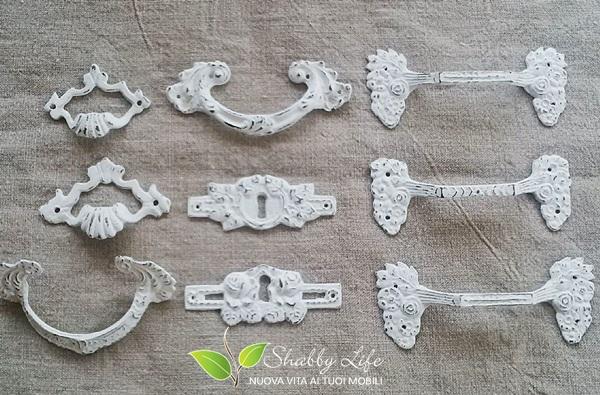 riciclo recupero creativo vecchie maniglie d'epoca shabby chic