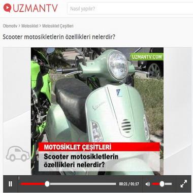 uzmantv com - scooter motosikletlerin özellikleri nelerdir