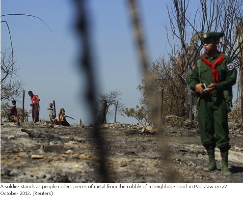 curfew, sets fire to Muslim home in Arakan state - Thit Htoo Lwin News