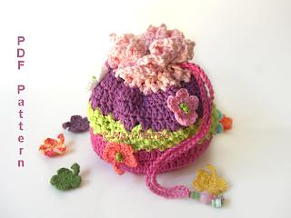 Crochet Bag Spring Garden