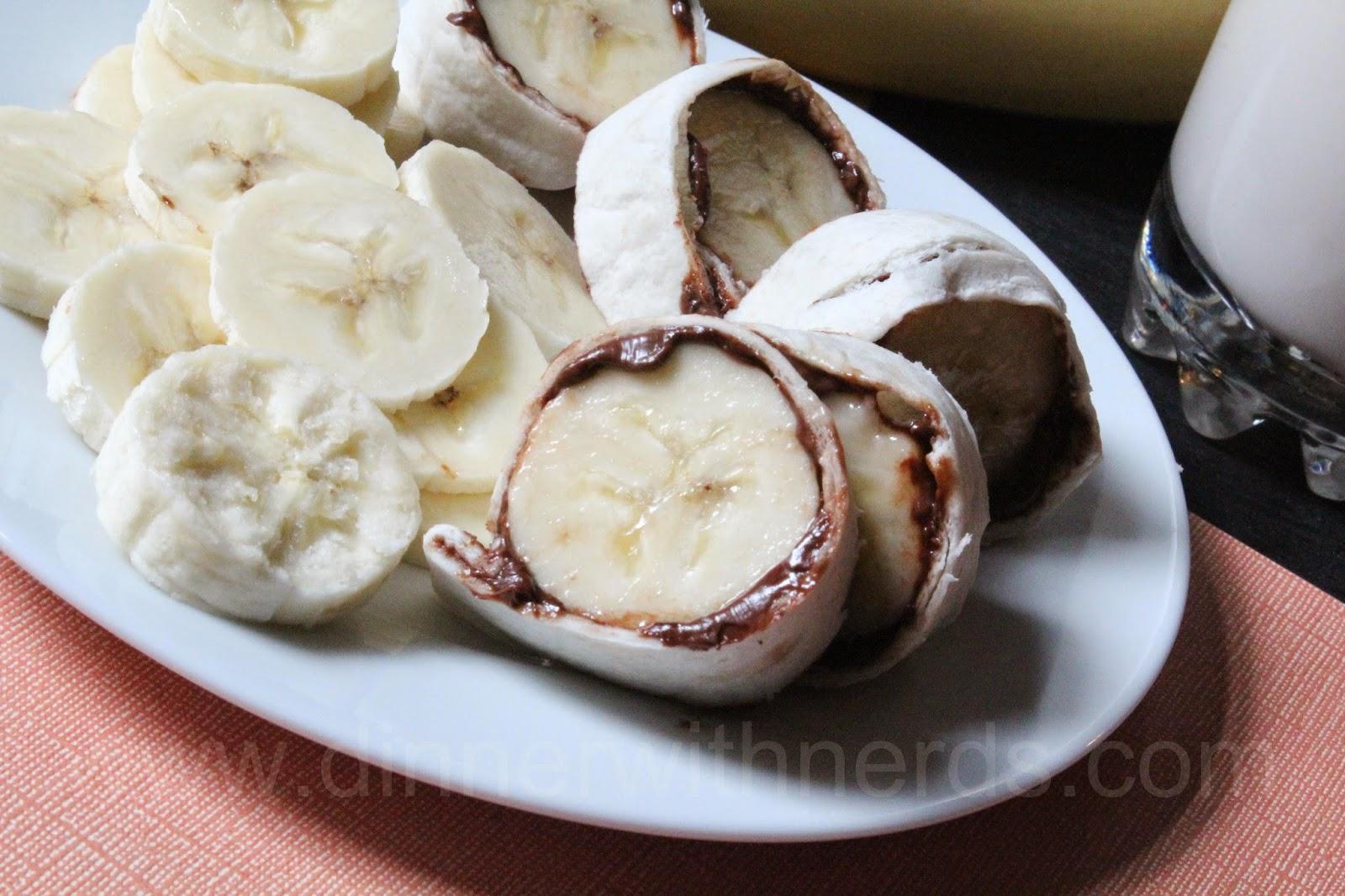 Hazelnut Banana Rollups