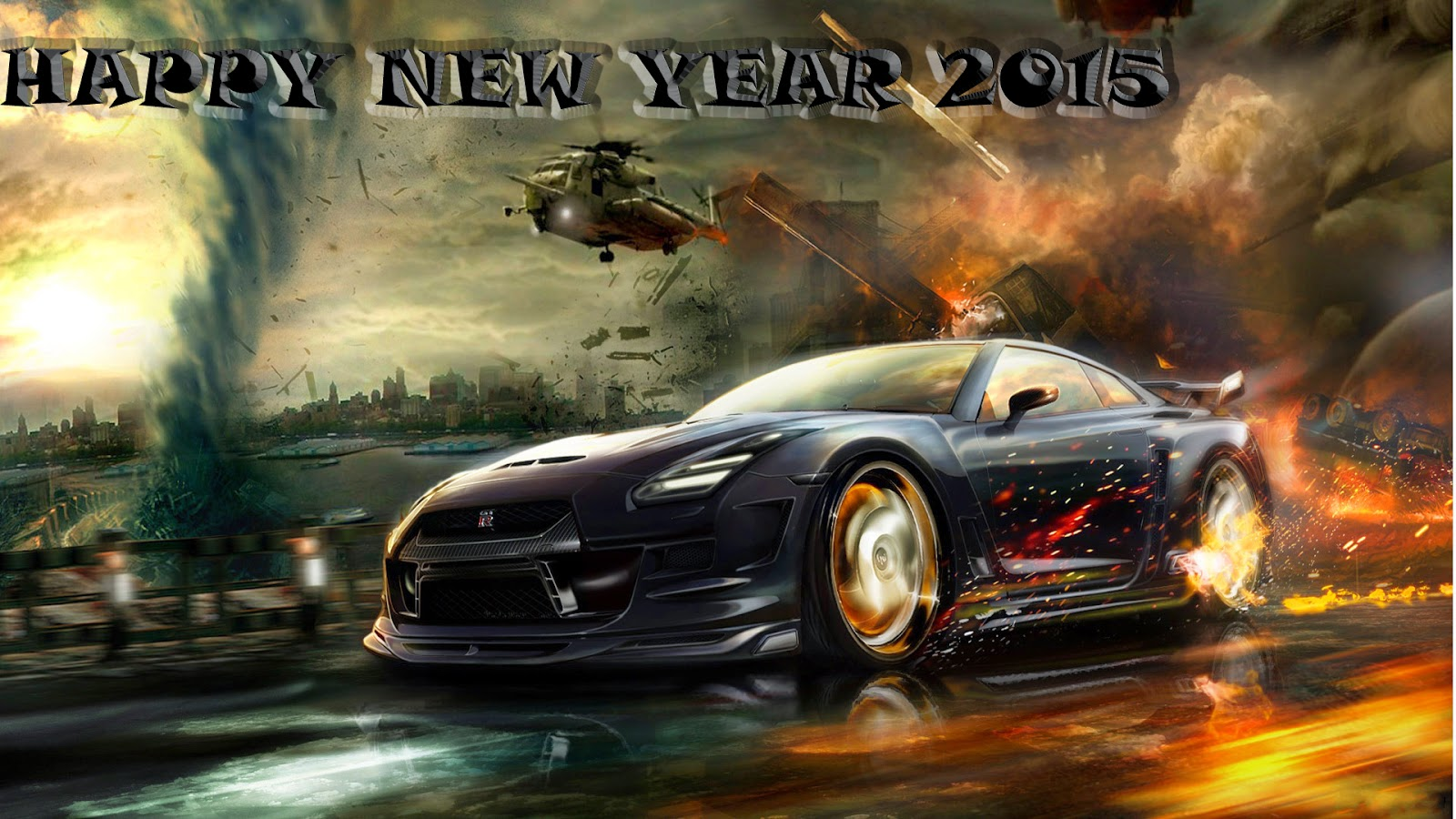 Happy New Year 2015 Car Wallpapers For HD
