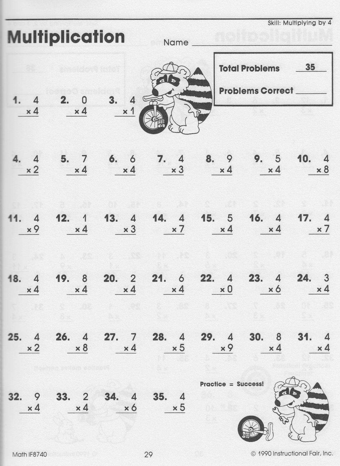 multiplication homework sheets