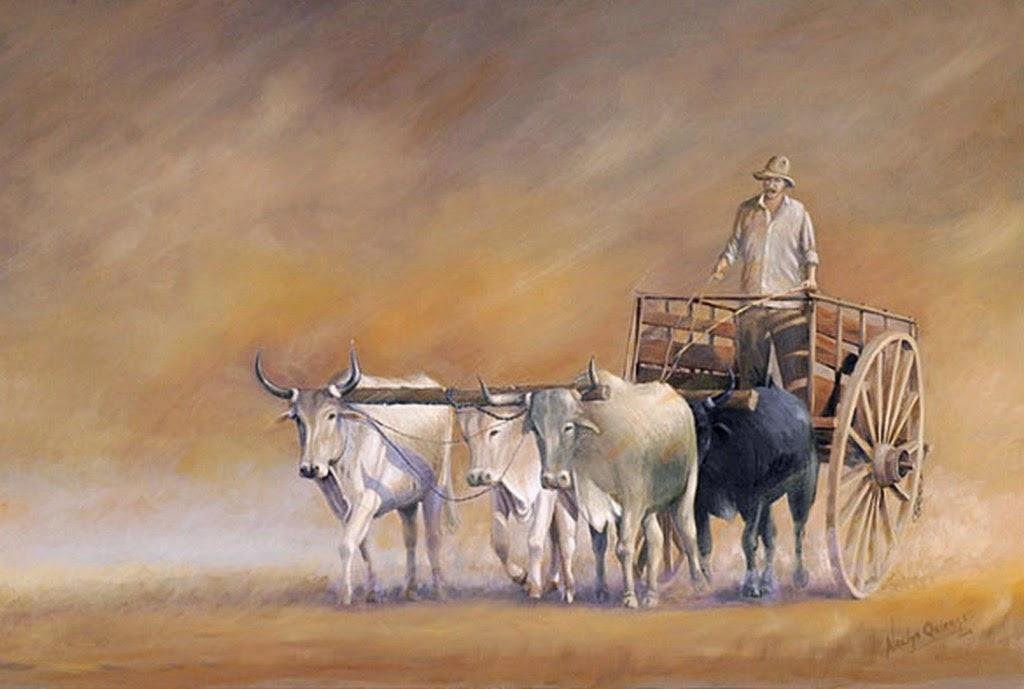 Im genes arte pinturas cuadros de paisajes con caballos - Cuadros de vacas ...