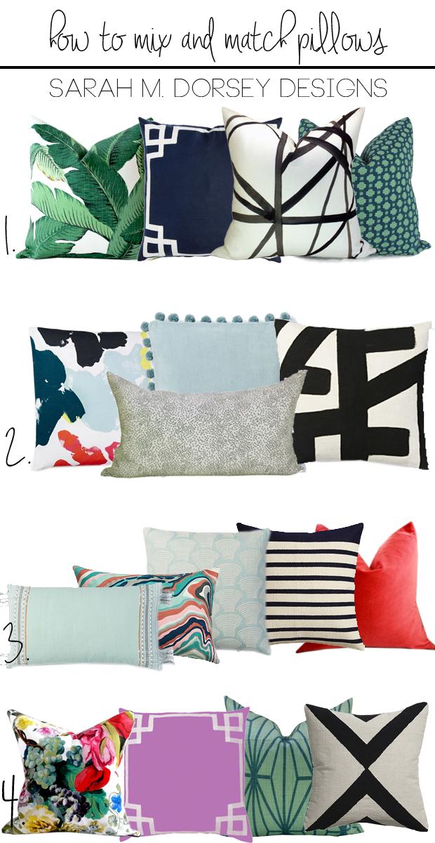 How to Mix and Match Pillows My Favorite Combos sarah m. dorsey designs Bloglovin