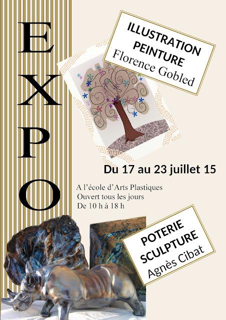 Expo peinture, illustration, poterie, sculpture