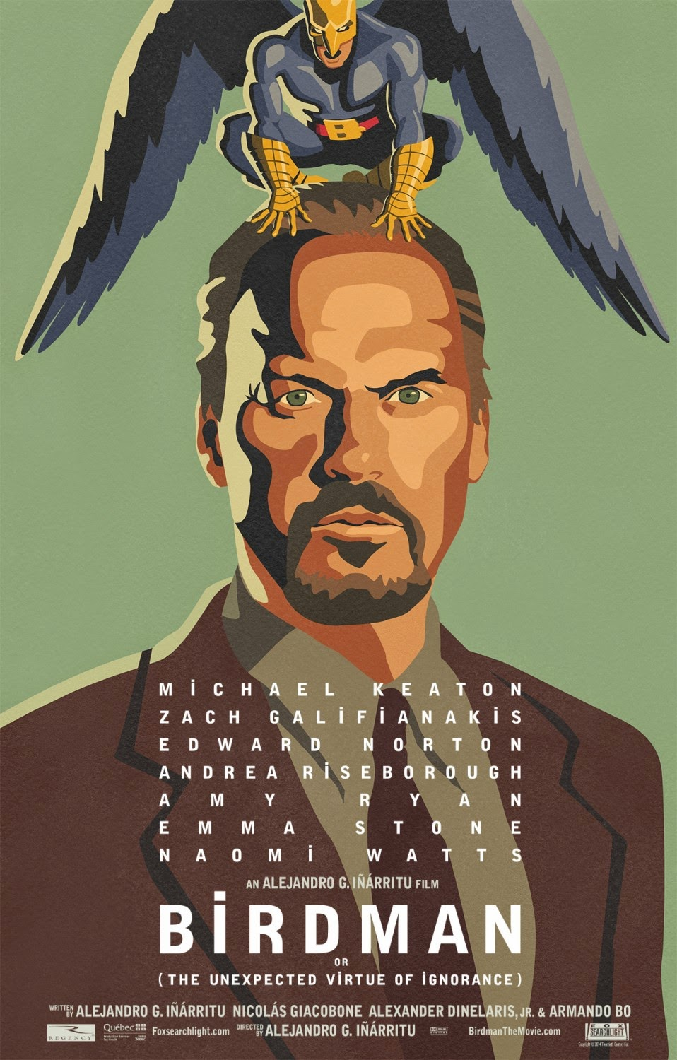 Birdman official cartoon movie poster