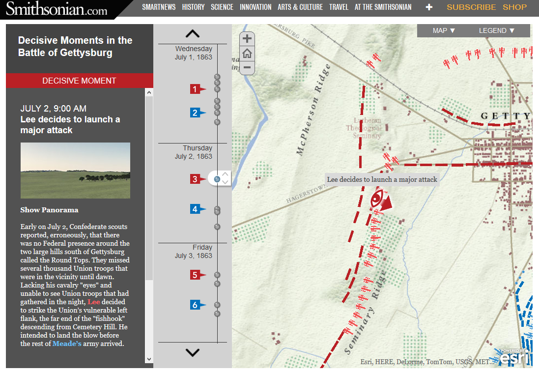 Arcgis Planeta E Learning Blobz Guide To Electric Circuits Simple Attractive Fun Decisive Moments At The Battle Of Gettysburg Is An Interactive Map Hosted On Smithsoniancom Details Events And Decisions Made By