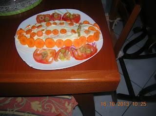 pesce finto --pizzette di zucchine..mozzarella alla milanese- tortino di carote senza uova  e burro