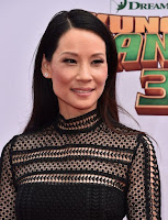 Lucy Liu in flare dress at the Kung Fu Panda 3 Premiere red carpet dresses photo