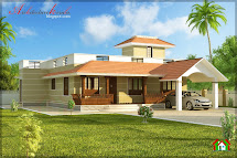 Kerala Single Story House Plans with Porches