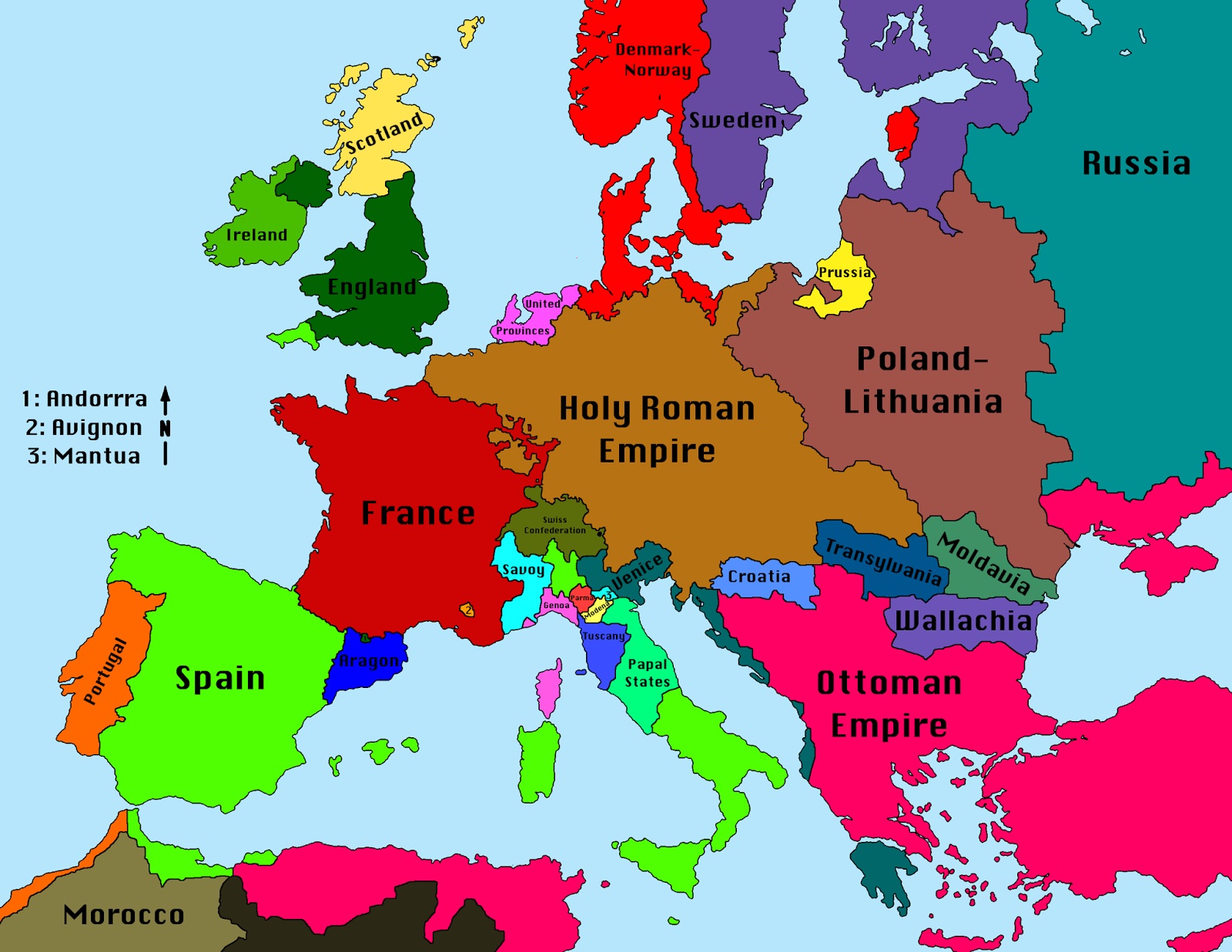 europe in the world map