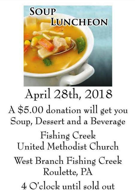 4-28 Soup Luncheon Roulette UMC