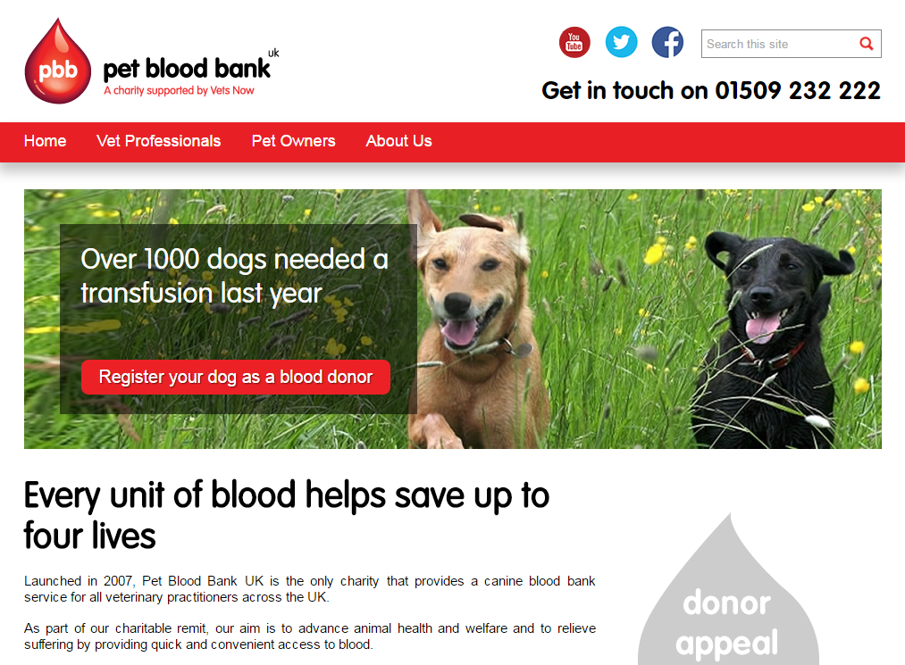 Pet Blood bank
