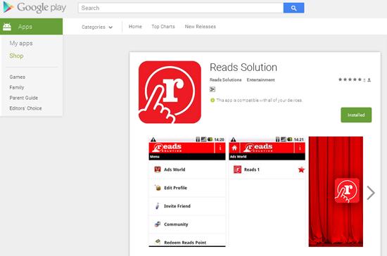 Aplikasi Reads Solution