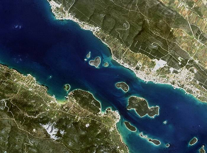 Galesnjak island in Croatia