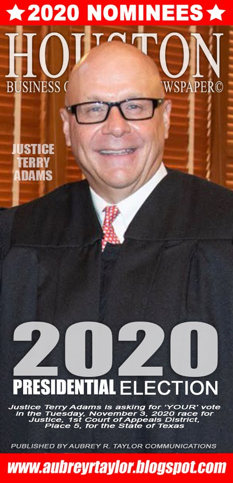 Justice Terry Adams for Justice, 1st Court of Appeals District, Place 5 on November 3, 2020