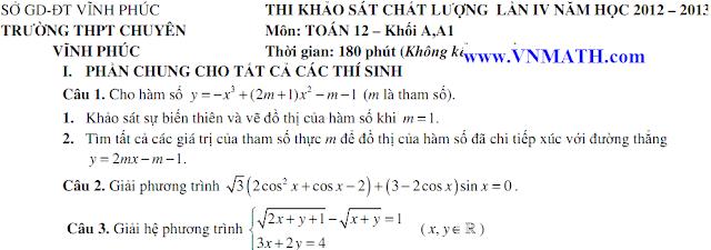 dap an de thi dai hoc mon toan khoi B nam 2013