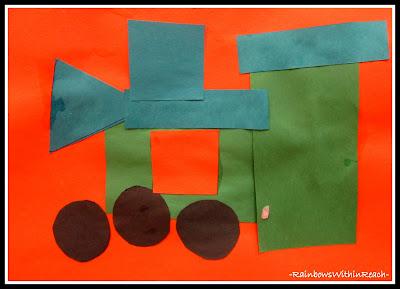 Geometric Shapes in Preschool Art at RainbowsWithinReach
