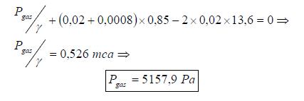 Ejercicio resuelto de estatica de fluidos formula 4 problema 3