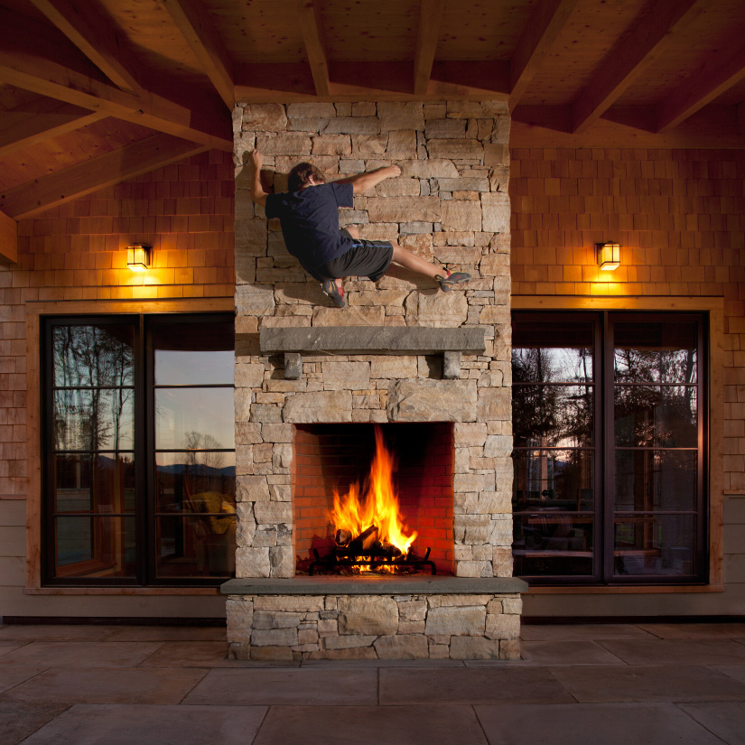 Truexcullins blog home is where the hearth is for Back to back indoor outdoor fireplace