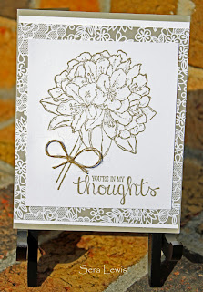 Sympathy card using Stampin' Up! Best Thoughts