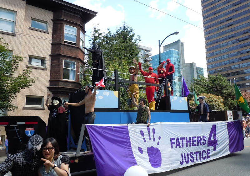 Fathers 4 Justice Vancouver Pride Parade