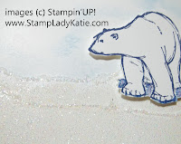 Card made with Stampin'UP! stamp set called Zoo Review and Iridescent Ice Embossing Powder.