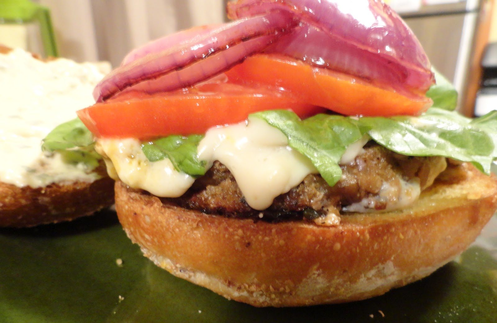 "The ""V"" Word: VeganMoFo: Bobby Flay and The Eggplant Crunchburger"