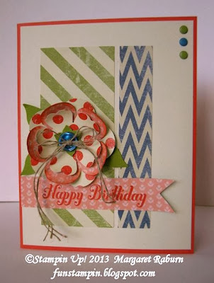 Fun Stampin with Margaret!  CCMC277 Sketch Challenge, Etcetera DSP,  Birthday, Bring on the Cake, SU