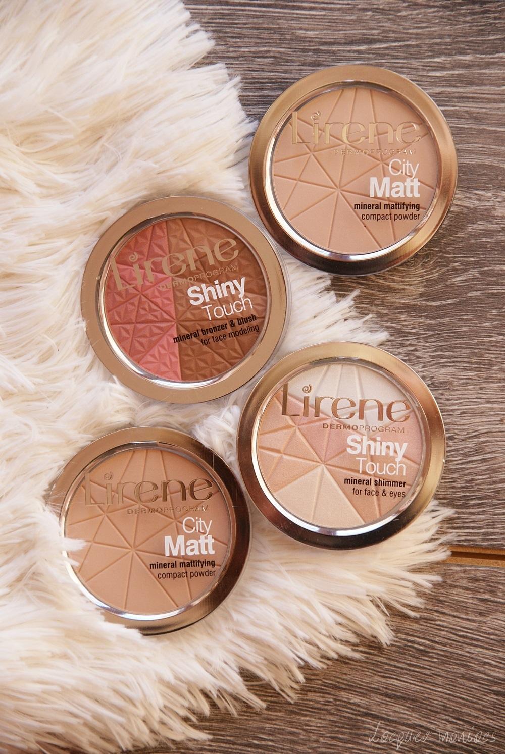 Nowości pudrowe Lirene: City Matt mineralne pudry matujące w odcieniach 02 i 03 oraz rozświetlacz i różo-bronzer Shiny Touch