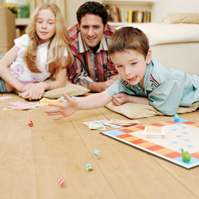 Image result for kids playing board games outside