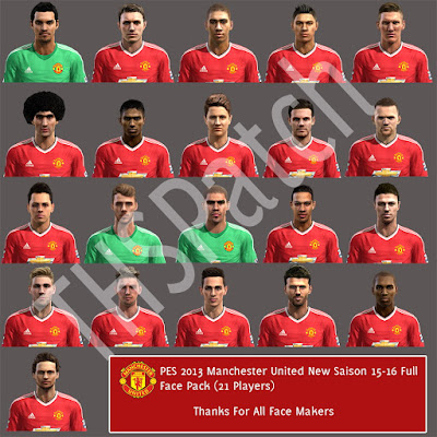 PES 2013 Manchester United 15-16 Full FacePack by THSPatch