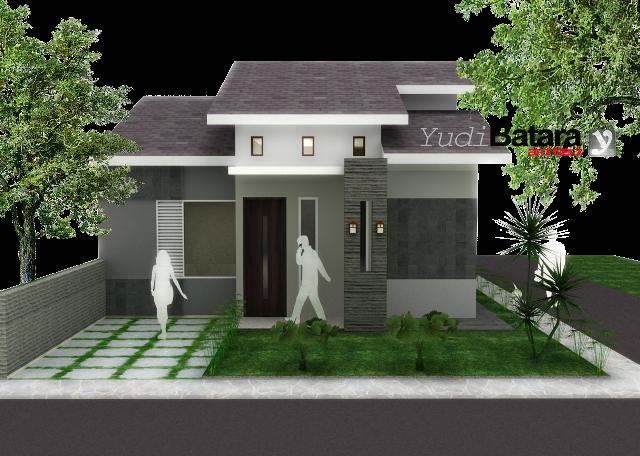 bentuk depan rumah modern desain rumah