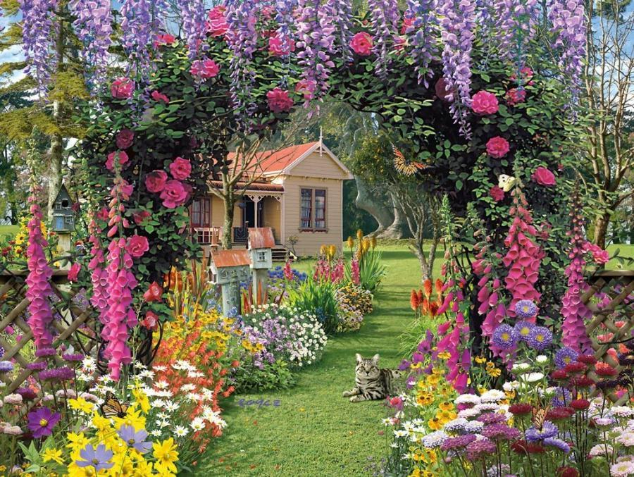 Wallpaper Desk Cottage Garden Wallpaper Cottage Garden