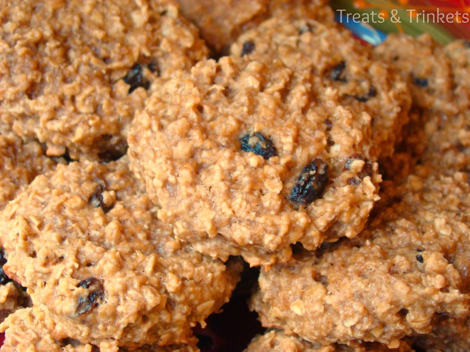 Treats & Trinkets: Peanut Butter Oatmeal Breakfast Cookies