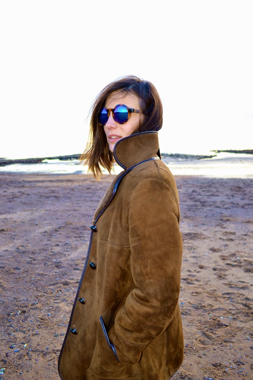 shearling coat; sheepskin coat; dujouriadore
