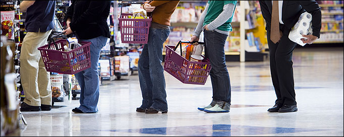waiting line management in supermarket Impact of process change on customer perception of  have significant impact on customer perception of waiting time as well as  length of the waiting line.