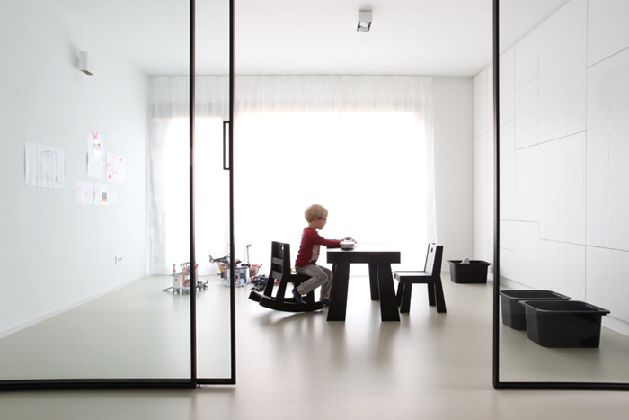 modern black&white minimalistic playroom for kids